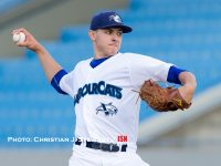 June 14, 2016, Victoria, BC - The Victoria HarbourCats host the Gresham GreyWolves in a West Coast League game Tuesday night at Royal Athletic Park in Victoria.  The HarbourCats would come away with a 2-0 win.  PLEASE DO NOT COPY!  All Photos Copyright Christian J. Stewart and Christian J. Stewart Photography 2016. NO UNPAID USE without the express written consent of the photographer.  Telephone: 250-744-7277; E-Mail cjsphoto@shaw.ca